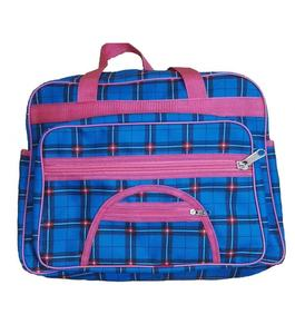 School, College and Travelling Bag For Girls - Blue & Pink