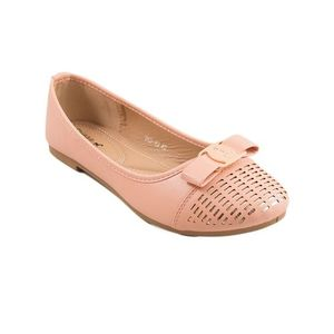 Pink Artificial Leather Womens Pumps 060-99