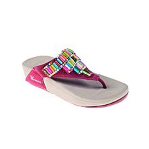 Maya TradersMaroon Suede Leather Slippers for Women - RR140