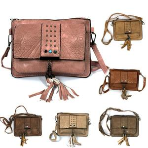 Ladies Rexine Leather Beats Cross body Girls Shoulder Bag Purse For Women