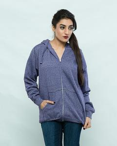 Purple Fleece Hoodie For Women