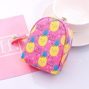Cute School Bag Shape Coin Purse Card Keys Holder Women Zipper Pouch Mini Wallet