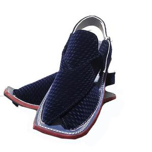 Blue Velvet Peshawari Sandals