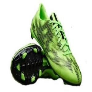 adidas F10 FG Junior Soccer Boots, Black/Silver, US5.5