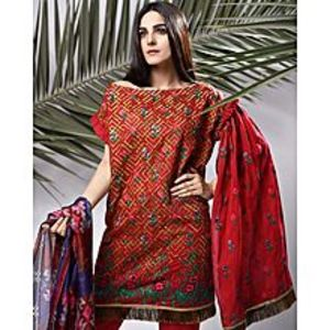 Nimsay Luxury Embroidered Lawn 3pc Unstitched Suit