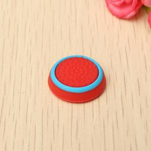 Rubber Silicone Thumbstick Joystick Cap Thumb Stick Cover Grips For PlayStation 4 PS4 Wireless Controller Red+Blue