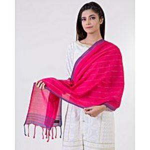 Bonanza SatrangiRed Cotton Dupatta For Women