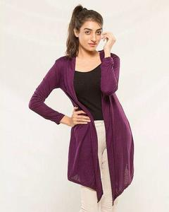 Purple Stylish Shrug for Women - ABZ-2074