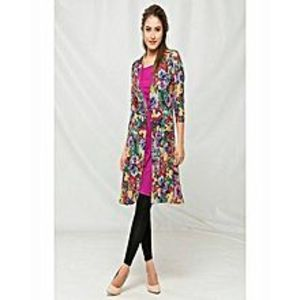 AH Collection Pakistan Multicolor Viscose Over Coat With Top For Women