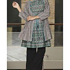 AlmirahLawn Brown Stitched Kurti For Women AL-LK-574/ALP-295