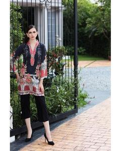 So Kamal Winter Collection  Black Cotton Embroidered 1PC -Unstitched Shirt DPF18 536  EF01140-STD-BLK