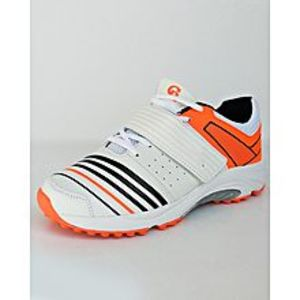 BEST OFFERS Orange -Black And White Cricket Gripper Shoes For Men