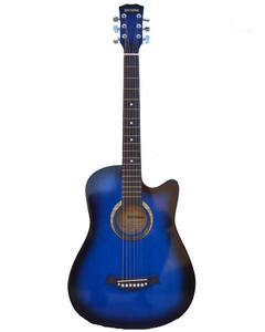 Victoria Semi Acoustic Guitar 39'' with 4 band EQ- Blue Burst
