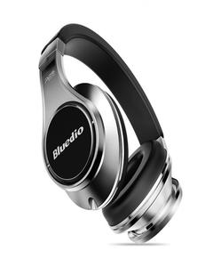 UFO Premium PPS 8 Drivers Bluetooth Wireless Headphone with Mic - Black/Silver