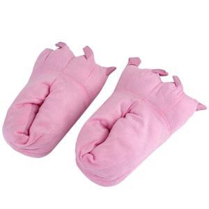 Animals Claw Paw Shape Plush Slippers Warm Floor Sleepwear Cartoon Shoes