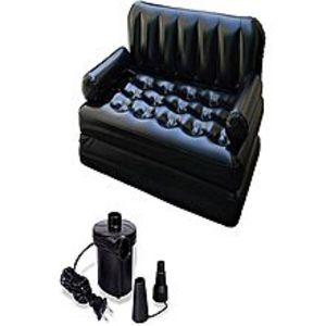 bigshop Sofa Come Bed With Electric Pump & Bag 5 In 1 Inflatable