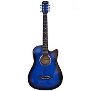 Victoria Victoria Semi Acoustic Guitar 39'' with 4 band EQ- Blue Burst