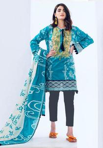 Embroidred Lawn Replica Un-Stitched Dress for Women by Khaadi