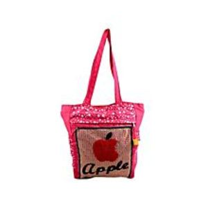 "Asaan Parhai Apple Handbag For School And College - 15X14"" - Pink"