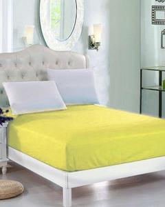 Yellow Jersey Fit 100% Cotton Bed Sheet - Single Bed