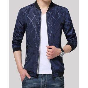 IDOL Fashion Mens Navy Blue Stylish Bomber Jacket. IFS-BJ2