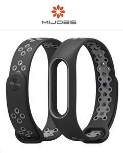Sports Strap For Mi Band 2 - Black and Grey (Special Design)