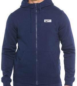 Nike Printed Mens Fleece Hoodies Sweatshirts Zip Up Style Kangroo Pocket