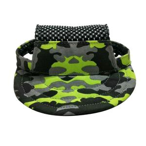 Camouflage Dog Caps Breathable Mesh Pet Hats Outdoor Sports Sun Hat