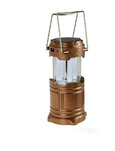 Solar Power Rechargeable LED Light - Bronze