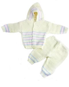 3 Pcs Yellow Hood Sweater Set for Newborn