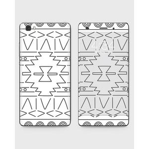 Huawei Honor P8 Lite (2015) Skin Wrap With Front Back And Sides ETHNO - BLACK & WHITE-1wall137