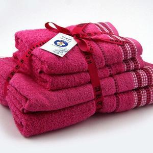 Alkaram Towel 4 - Piece Towel Set Pink