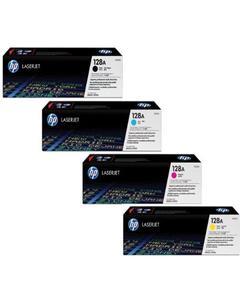 128A 4 Pack Original LaserJet Toner Cartridge (CE322A)