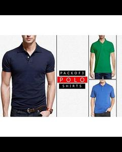 Pack Of-3 Multicolour Polo Tshirts For Men