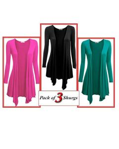 Pack Of 3 - Shrug For Women