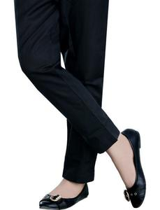 Winter Collection BLACK Cotton Polyster Medium 1-Piece stitched Trouser