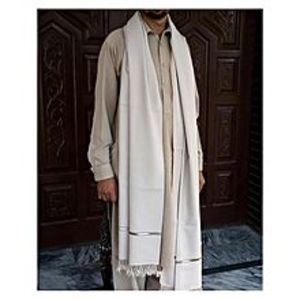 Charsadda HandMadeHandmade Woolen Shawl - Off-White