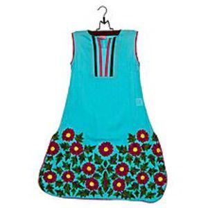 Dot ShopFerozi Malai Lawn Embroidered Kurta For Girls