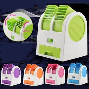 Portable Mini Air Conditioner USB Small Fan Bladeless Cooling Appliance Soothing Wind Desktop Home Office Air Cooler