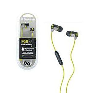 SkullcandyOriginal Noise Isolating HD Riff Headset/ Earphones/ headphones/ handsfree - Yellow & Green