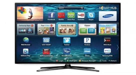 """Samsung 43"""" Inch UHD 4k Led Flat Smart Tv Double Glass-Black  All Android features included with Free 32gb USB &; Wall-Mount (1 Year Circuit Repairing Warranty in all pakistan)"""