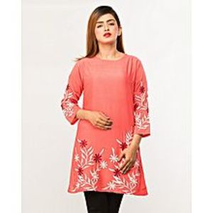 Meerbound Multicolor Cotton Embroidered Kurta for Women