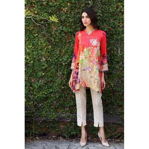 So Kamal Winter Collection  Pink Linen Embroidered 1PC -Unstitched Shirt DPW18 697 EF01262-STD-PNK
