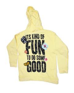 Stylish Yellow Printed Hoodie Jacket for Boy