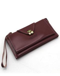 Stylish Lady Wallet Phone Pouch Handbag For Women - Maroon