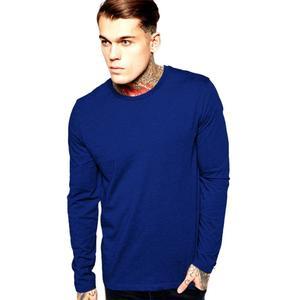 Boys and Men Navy Blue Plain Winter Cotton Sweat Shirt For Him