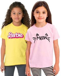 Meow Kids T-Shirt For Girls-Pack of 2