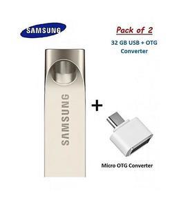 32Gb Usb Flash Drive + Otg Converter