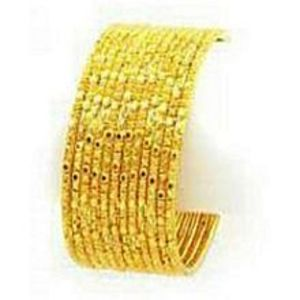 Jewellery Hut 12 Gold Plated Bangles - Golden