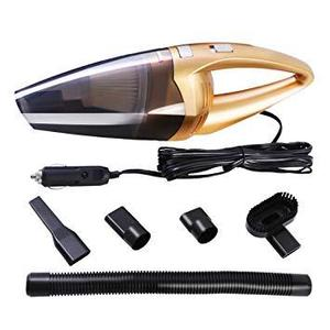 As Seen on TV  High Powered 12v Handheld Wet and Dry Car Vacuum Cleaner Kit Golden